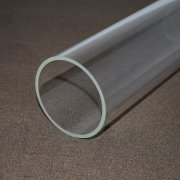 Large diameter quartz glass tube